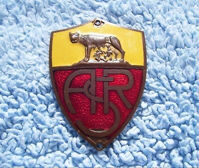 VINTAGE 1960s AS ROMA ITALY CAR BADGE - LAMBRETTA/VESPA FOOTBALL CLUB AUTOMOBILE