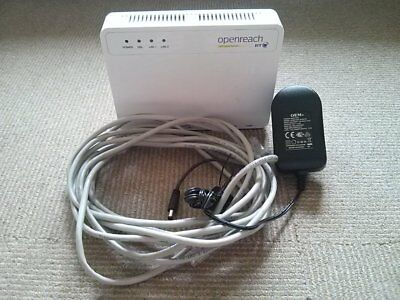 ECI B-Focus V-2FUb/r Rev.B BT Openreach Fibre VDSL Modem with power cable