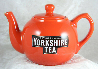 Taylors of Harrogate Yorkshire Tea Teapot mini 4 inches tall in red brand new