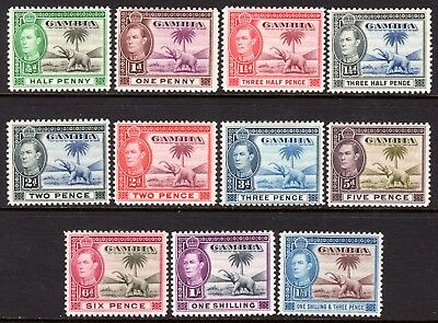 Gambia KGVI 1938-46 Set to 1s SG150-156a M/Mint Cat £31