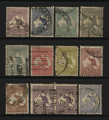 Australia Collection 12 Kangaroo Values Used