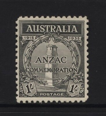 Australia 1935 Gallipoli Landing ANZAC 1/- Black Value Mounted Mint