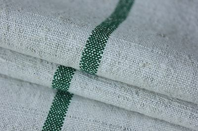 GRAINSACK GRAIN SACK fabric linen CHRISTMAS fabric  GREEN fustian linen cotton