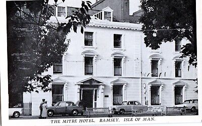 Postcard - The Mitre Hotel, Ramsey, Isle of Man. Unposted.