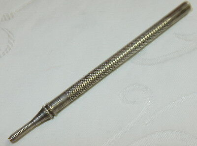 Antique Ah Woodward Silver Mechanical Propelling Pencil - Very Nice