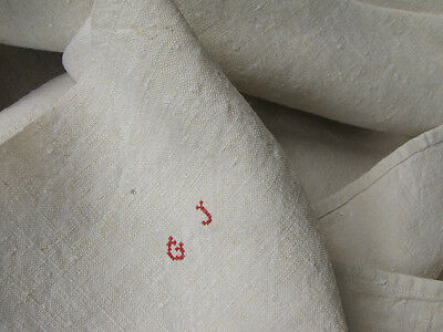 Antique French finely woven linen sheet 19th century GJ