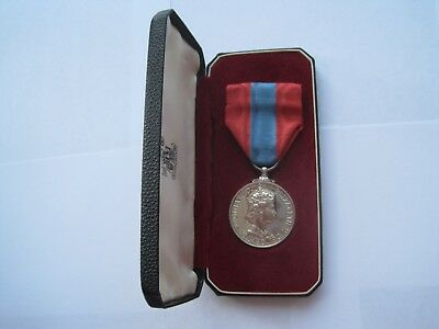 Original Imperial Service Medal,violet Eveline Webster,original Case Of Issue