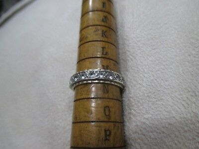 Vintage  Silver And Gold Eternity Ring