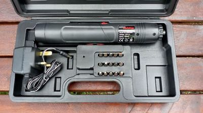 Rechargeable Electric Screwdriver and Bits in Case