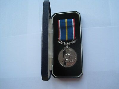 National Service Medal In Original British Legion Case Of Issue
