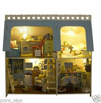 DIY Handcraft Miniature Project Kit Wooden Dolls House My Lucky House