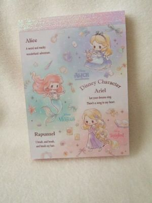 Disney Princess Ariel , Rapunzel, Alice mini memo pad