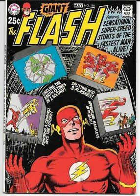 The Flash lot of 7 25 cent Giant comics from the late 1960's Carmine Infantino