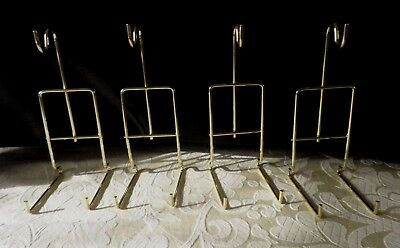 4 Top Quality Cup & Saucer Stands Brassed