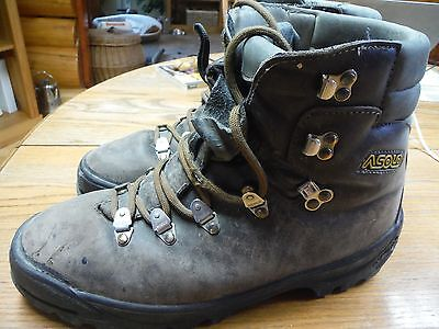 Mens 10 1/2 10.5 Asolo mountaineer climbing hiking boots (useable with crampons)
