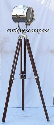 Collectible Nautical Floor Studio Lamp Spot Searchlight W Tripod Stand