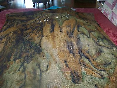 Antique Chase mohair wool glass eye carriage sleigh buggy lap robe blanket