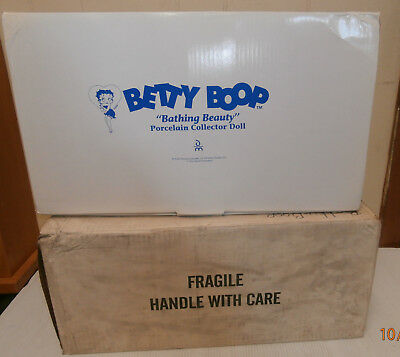 "Danbury Mint Betty Boop ""Bathing Beauty"" Porcelain Collector Doll w/Orig.Box"