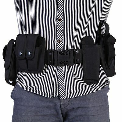 Tactical Nylon Security Guard Modular Enforcement Duty Belt Waistband Band Black