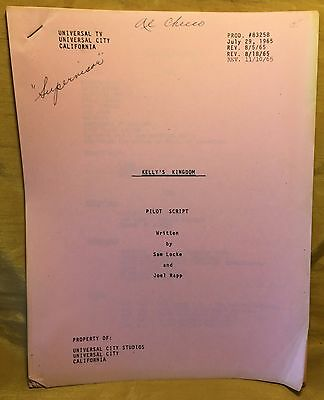 KELLY'S KINGDOM 1965 Universal TV Pilot Script Harry Morgan: Al Checco Estate