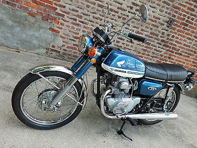 1971 Honda CB  1971 Honda CB175 Twin Super Sport, K5, Candy Blue & White, 10/1970 Production
