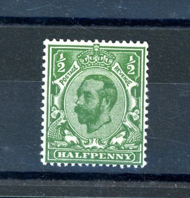 Great Britain  1911/12  1/2d  Bluish Green  (SG 323)  unmounted MINT   (O902)