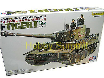 30611 Tamiya 1/25 German  TIGER I  WWII  Heavy Tank Model Kit  Re-issued