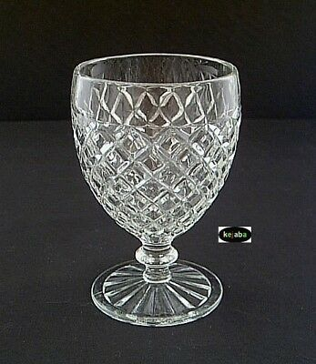"""Waterford Waffle Crystal Goblet 5 1/4"""" Hocking"""