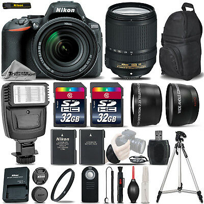 Nikon D5500 DSLR Camera + 18-140mm Lens +FLASH +EXT BATT +WRIST GRIP -64GB KIT