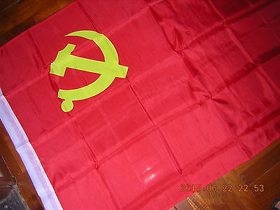 NEW Reproduced Flag of Chinese Communist Party Flag Red China ensign 3ftX5ft