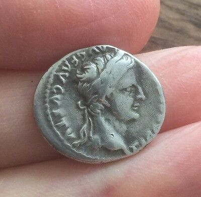 Roman. Tiberius (14-37 A.d). Silver Denarius - 'tribute Penny' Of The Bible.