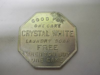 Vintage Palmolive Crystal White Soap - Good For One Cake Trade Token