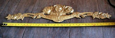 Antique French Bronze Pediment , Ornament