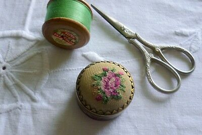 Sweet Vintage Cloisonne Sewing Pins Cushion