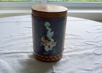 Vintage Chinese Bamboo and Dragon Tea Caddy?