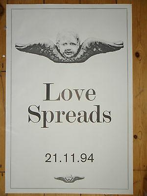 THE STONE ROSES - Love Spreads - ORIGINAL PROMO POSTER - Second Coming