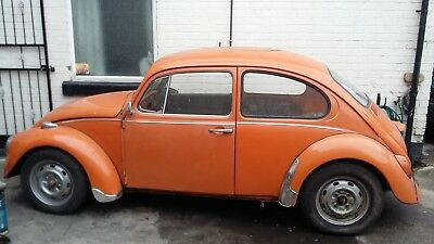 vw beetle classic 1200 bug 1973 barn find easy restoration unfinished project