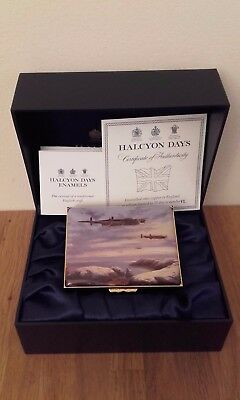HALCYON DAYS ENAMELS BOX BATTLE OF BRITAIN LANCASTERS No12 OF ONLY 75