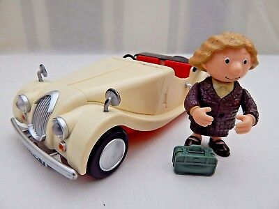 Dr Sylvia Gilbertson Figure With Morgan Sports Car From The Postman Pat Series