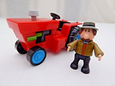 Alf Thompson Posable Figure With Tractor From The Postman Pat Series