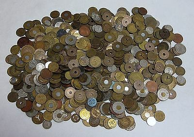 5LB Lot of Transportation Tokens From All Over - Old and New