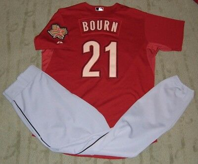 Houston Astros Michael Bourn Game Worn Used Jersey & Pants (Braves Indians)