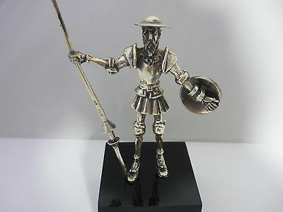 Stunning Vintage Large Sterling Silver Don Quixote Sculpture/Statue