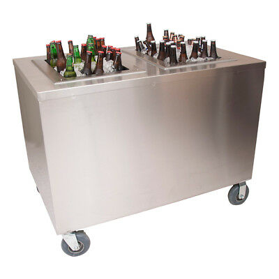 """BK Resources PBC-3060S 60""""W x 30""""D Portable Stainless Steel Beverage Center"""