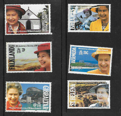 40th Anniversary Accession of QEII, Variety of Stamps from Commonwealth Countrie