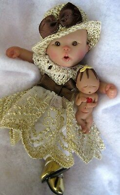 "Ooak baby girl, CoCo,  4.75""  jointed full sculpt, Artist Original Sculpt"