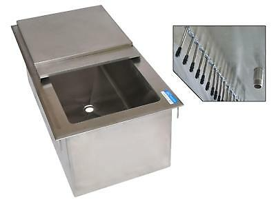 """BK Resources DICP8-3420 34""""W x 20""""D Drop-in Ice Bin w/ 8 Circuit Cold Plate"""