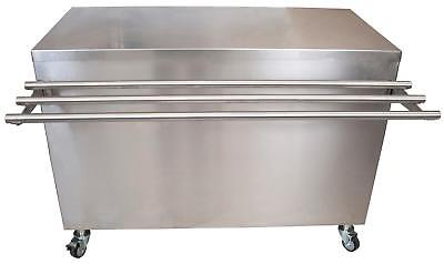 """BK Resources SECT-2448S 48""""x24"""" Stainless Steel Serving Counter w/ Sliding Door"""