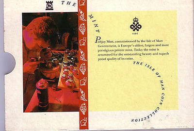 Isle Of Man  9 Coin Mint Set 1992 Superb Fdc Coins  Official Folder Inc £5 & £2