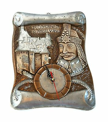 Romania Transylvania DRACULA Wall Clock Working Plaster Hanging Plaque Vampire